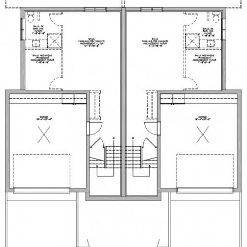 Plan De Maison Rue Bonin 1