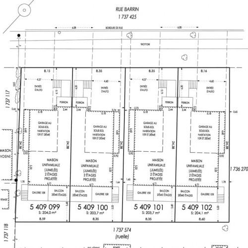Plan d'iimplantation lumelé rue Barrin