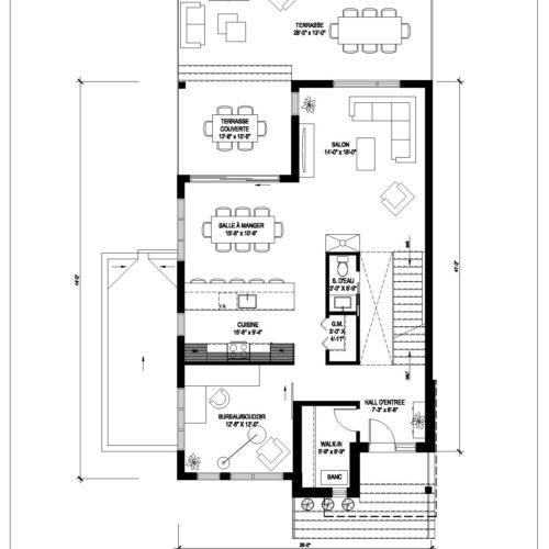 Unifamiliale rue dickson possibilit de construire avec for Comment concevoir vos propres plans de maison