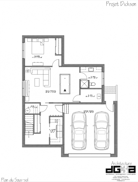 Projet dickson plan du sous sol for Plan maison sous sol